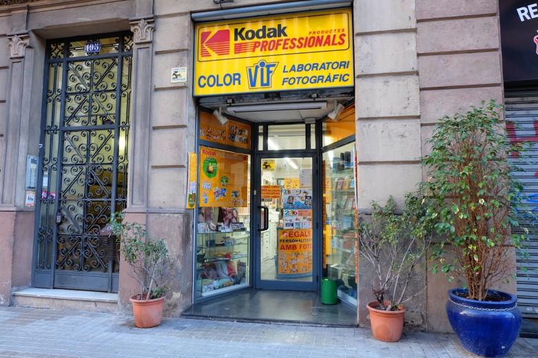 Revelado de fotos en Barcelona, Carrer Aragó, 195, Colorvif, tienda laboratorio fotográfico profesional